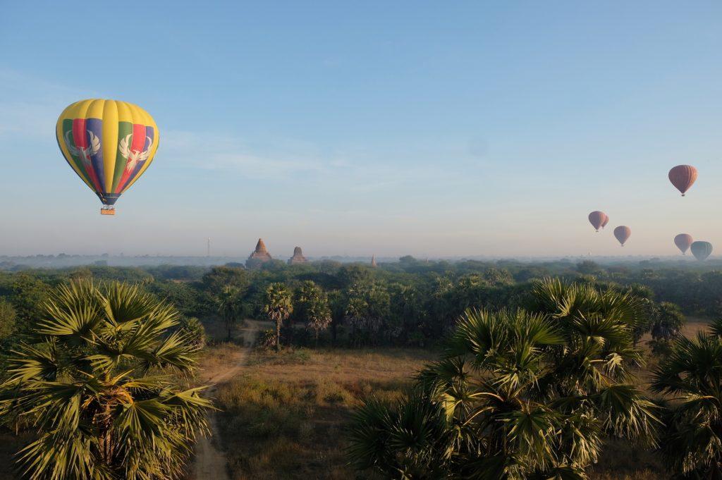 Landing Hot Air Balloon Bagan