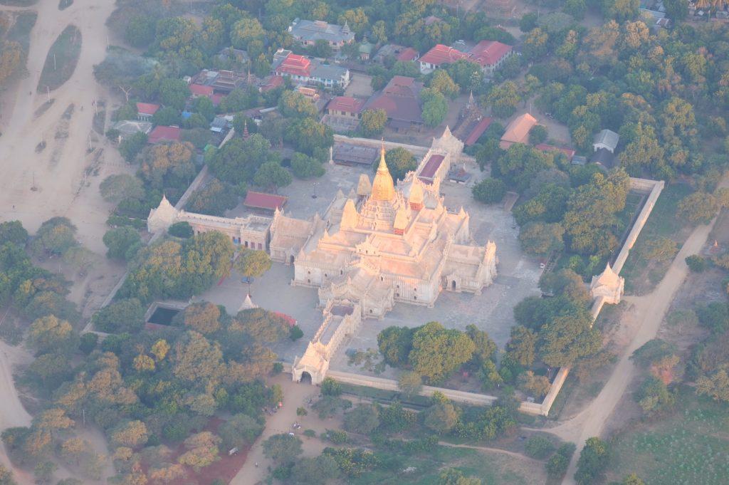 Bagan Pagoda from above