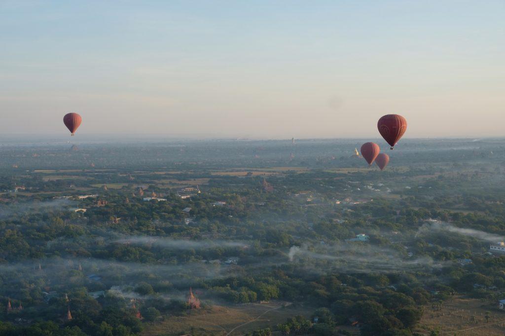 Bagan in Hot Air Balloon