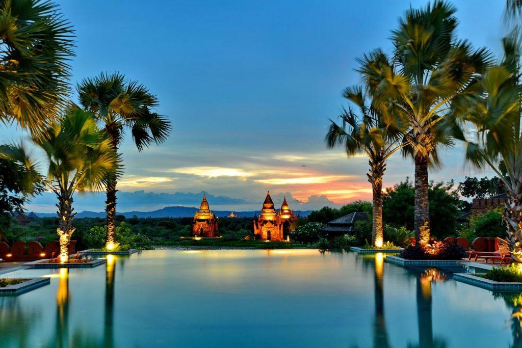 Sunset in Bagan Aureum Palace Hotel